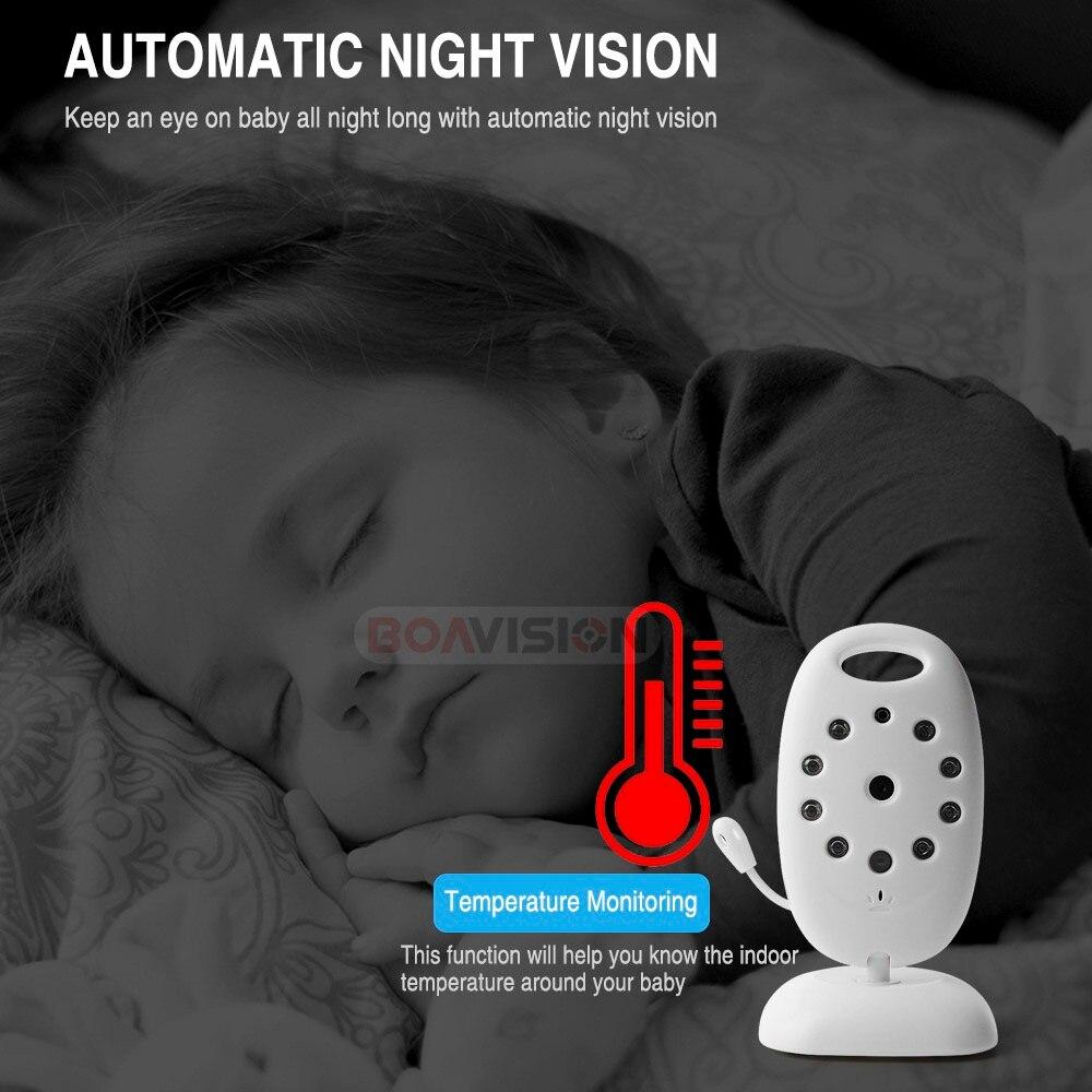 VB601 2,4 Ghz vídeo monitores de bebé inalámbrico de 2,0 pulgadas de pantalla LCD de 2 hablar IR visión nocturna temperatura de la cámara de seguridad 8 canciones de cuna - 5
