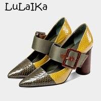 Обувь из натуральной кожи; коллекция 2018 года; женские туфли Mary Jane; туфли лодочки; туфли на высоком массивном каблуке с пряжкой на ремешке; веч
