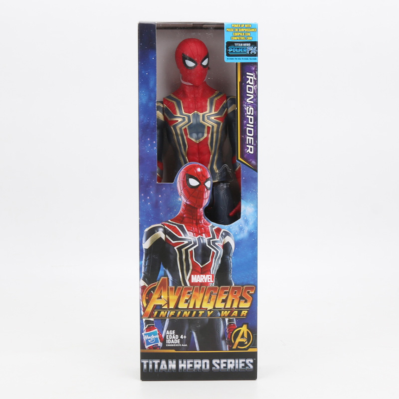 30cm Iron Spider Pvc Action Figure Titan Hero Series Marvel Toys The Avengers Figures Ironman Super Hero Collection Model Dolls #6