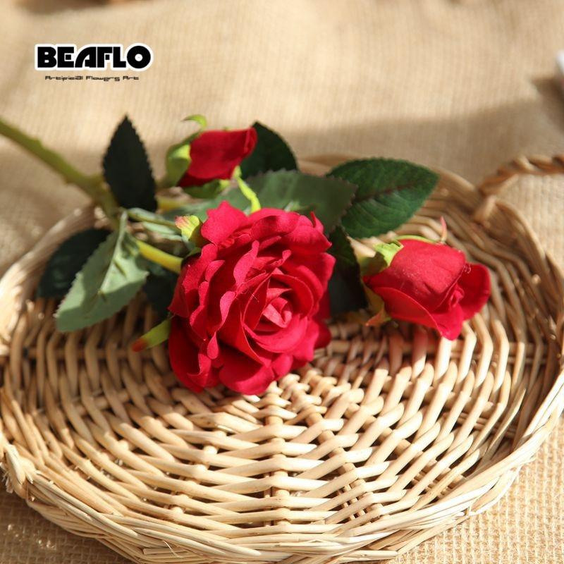 1PC τεχνητό βελούδο τριαντάφυλλο 3 - Προϊόντα για τις διακοπές και τα κόμματα - Φωτογραφία 5