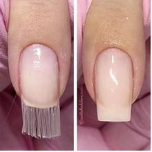 10Pcs White Fibernails Fiberglass For Fitting Nails Nail Extension Acrylic Tips Curvature Clips Silk Wraps