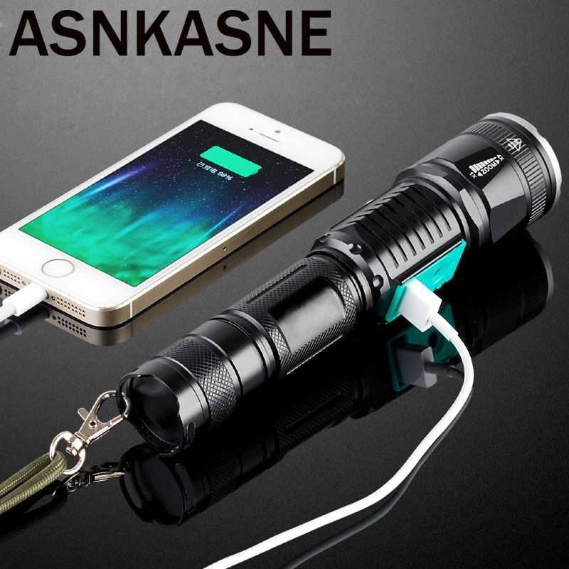 Military Police Use Flashlight Waterproof T6 Long Range Rechargeable LED Light Riding Hunting Torch Tactical Flashlight