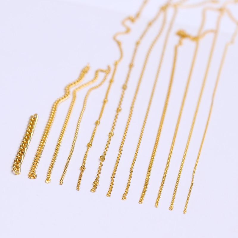 3D металлические украшения для нейл-арта, золотая металлическая цепочка, бисер, линия, много размеров, змеиная кость, сделай сам, украшение для маникюра, нейл-арта, 1 коробка