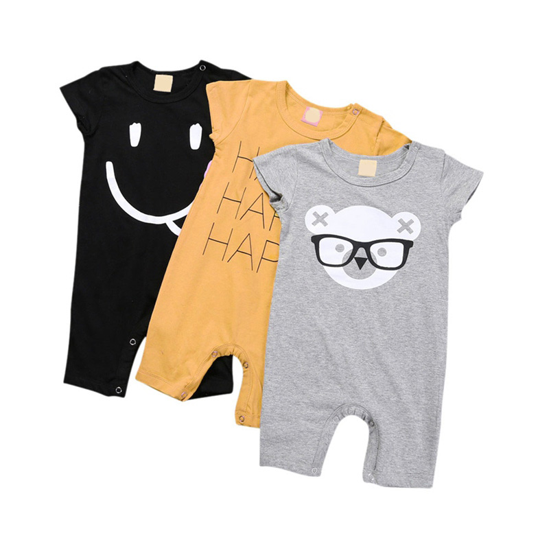 2018 Baby   Rompers   Summer Casual Baby Boy Girl Clothing Newborn Infant Rabbit Short Sleeve Clothes L1