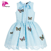 Children Dress For Girls New 2017 Summer Brand Fashion Sleeveless Kids Clothes Casual Cotton Ball Gown