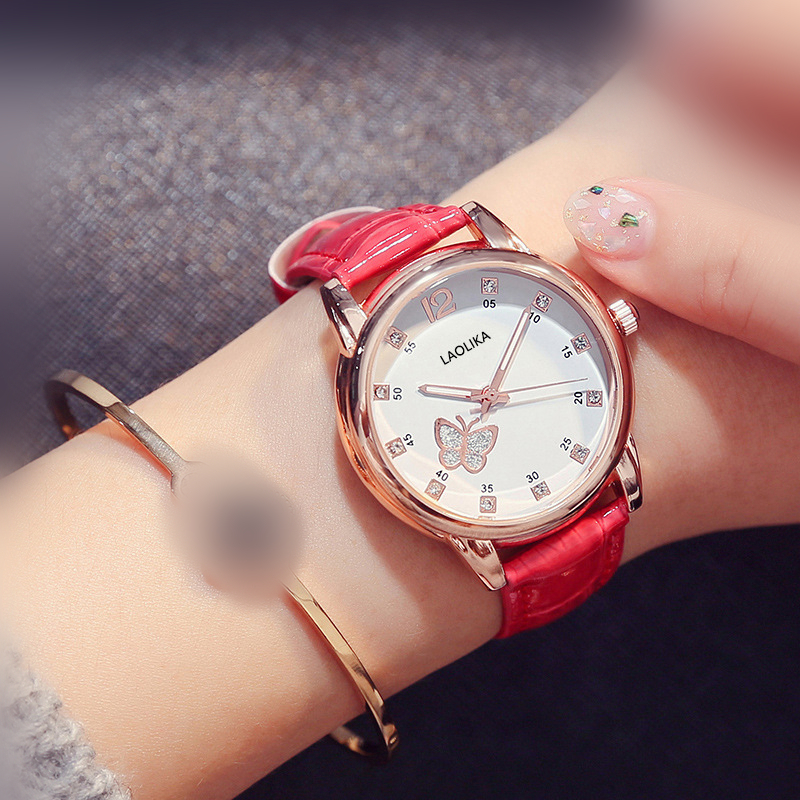 Watch Cute Fashion Luminous Watch Belt Watch Waterproof Ladies Watch Female High School Student Trend Fashion amp Casual in Women 39 s Watches from Watches