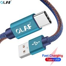 Olaf USB Tipe-C Kabel 1 M 2 M TYPE C Kabel Cepat Charge Data Kabel untuk Samsung Galaxy s8 Catatan 9 Huawei Mate 20 Lite Usb Charger Cabo(China)