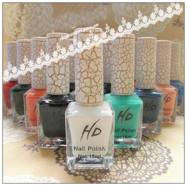 HD Crack Nail Polish Crackle/Fissure/Flaw/Shatter 18ML 30 colors-in ...