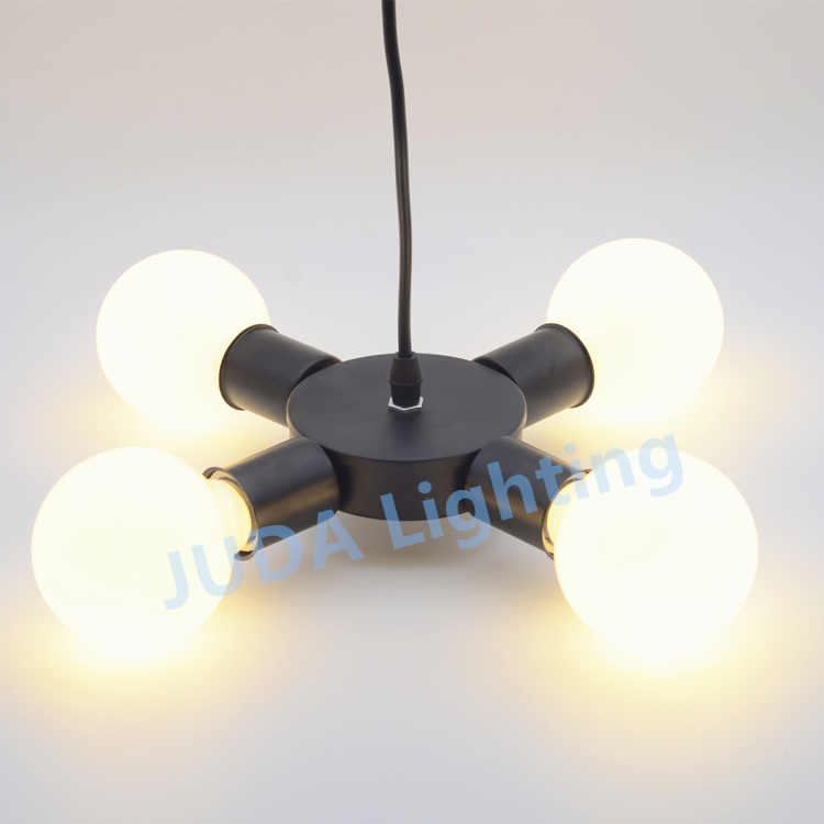Ceiling Light American Iron metal Art Loft Ceiling Lamp E27 ceramic lamp holder base for chandelier led pendant light fittings