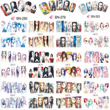 on sale !!1 lot =10pcs ,12 in one sheet  New Style Nail  Art Water Sticker --The various images of women   in 2017 for BN277-288 цена