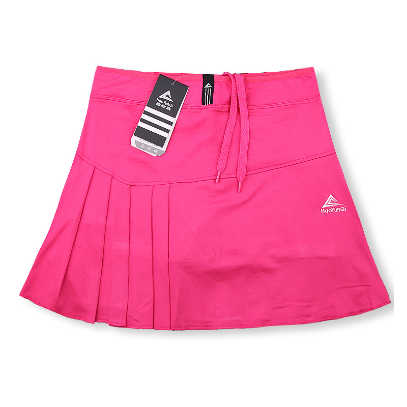 Spring Summer New Tennis Badminton Skort Ladies Running Sports Skirt with Pocket Security Safety Pants Skirt Solid Color