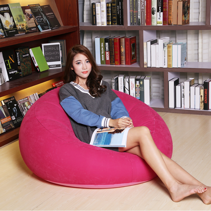 New Sofa lazy inflatable sofa Single lazy nap bedroom small sofa ...