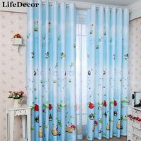 Rustic Cartoon Curtain Child Real Curtain The Finished Curtain Customize Dodechedron Curtain A1