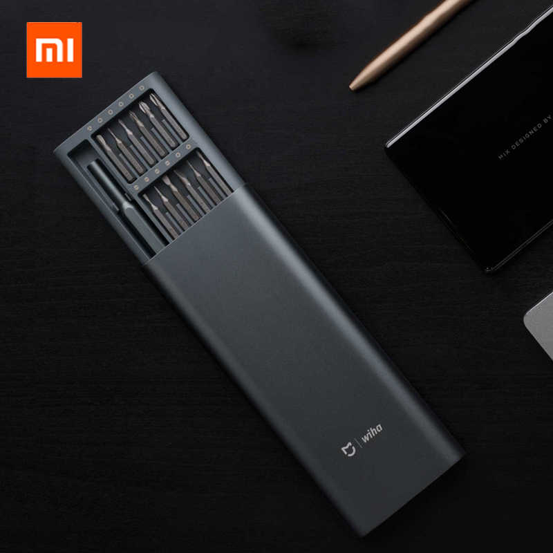 Original Xiaomi Mijia Wiha 24 in 1 Precision Magnetic Bits Alluminum Box Screw Driver Repair Tools smart home Kit