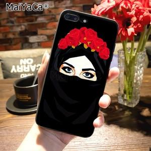 Image 5 - Maiyaca islâmico muçulmano gril olhos macio silicone caso de telefone para o iphone 8 12pro 6s plus x xs max xr 5S se 11pro max coque escudo