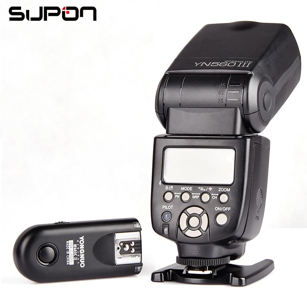 Yongnuo YN-560III Flash ligth Avec RF-603II/C Seul Émetteur-Récepteur Déclencheur pour Canon SLR 50D 5 DIII 550D 650D # k1331