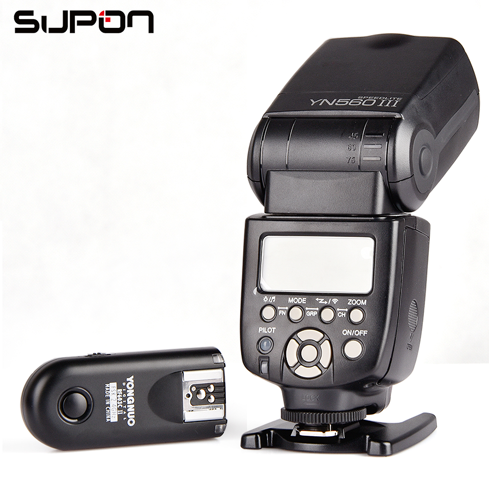 Yongnuo YN-560III Flash ligth With RF-603II/C Single Transceiver Trigger for Canon SLR 50D 5DIII 550D 650D #K1331