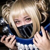My Boku no Hero Academia Himiko Toga Short Linen Golden Blonde Synthetic Hair Cosplay Anime Wig + Wig cap