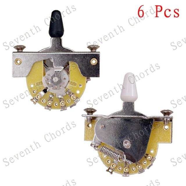6 Pcs Tl Electric Guitar Vintage 3 Way Lever Switch Selector 2 Colors Plastic