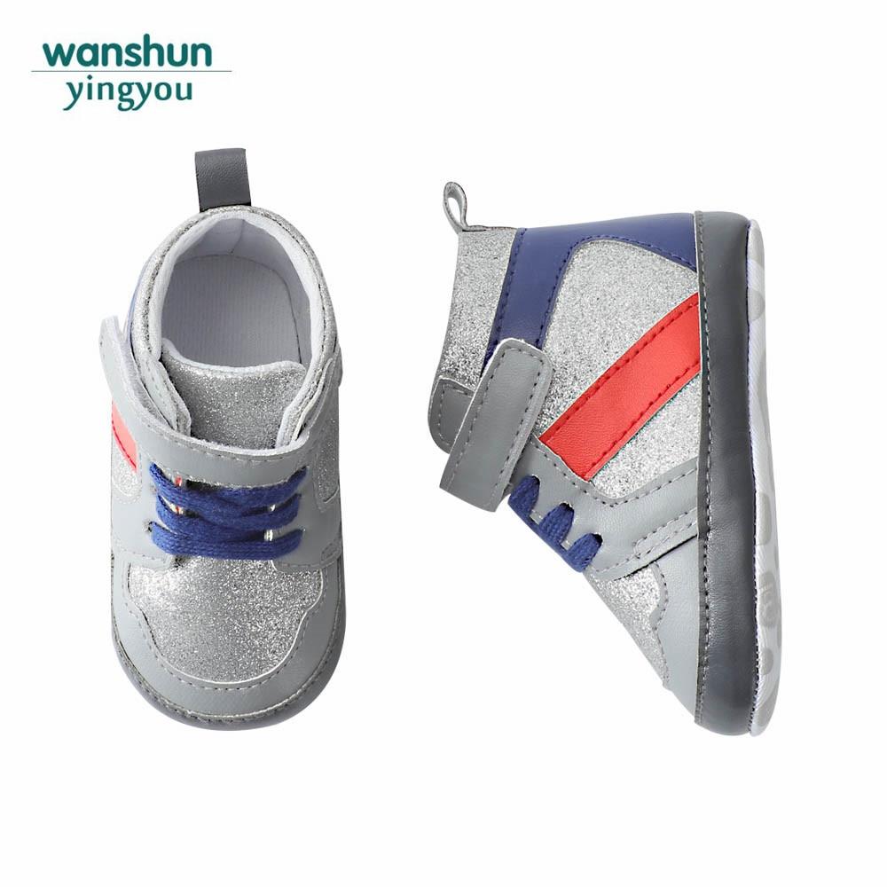 3 colores Baby boy girls first walkers suela blanda niño primeros - Zapatos de bebé