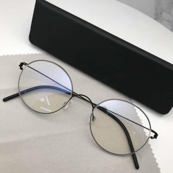 Retro okrągłe okulary ramki okularów mężczyzn tytanu Morten okulary óculos feminino Oculos de grau feminino gafas de tanie i dobre opinie SO SMOOTH WIND Unisex Okulary akcesoria Stałe FRAMES