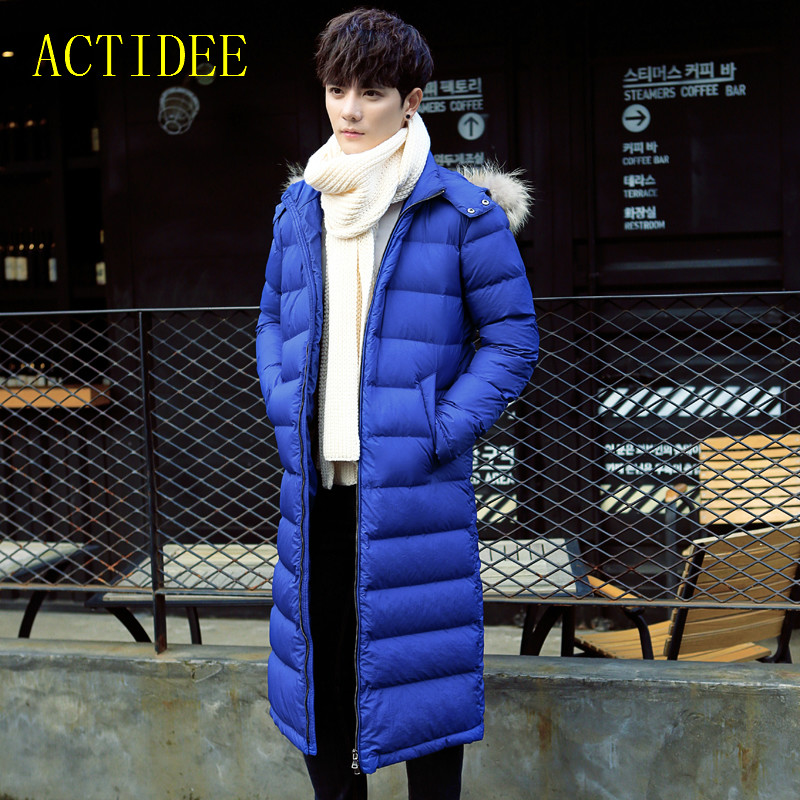 2017 New Men Long Cotton Down Jacket Cotton Padded  Fur Collar Winter Coat Men Winter Jackets Man plus size 3XL 2016 new long winter jacket men cotton padded jackets mens winter coat men plus size xxxl