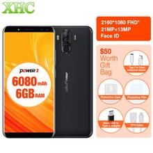 """Ulefone Puissance 3 6.0 """"18:9 Plein Écran Smartphone 6080 mAh 6 GB 64 GB Octa Core Visage ID 21MP OTG 5 V 3A Charge Rapide Double SIM téléphone portable"""