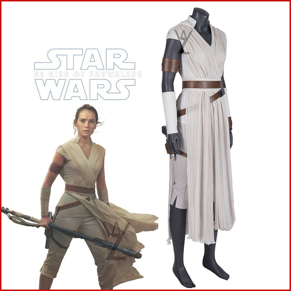 Star Wars 9 The Rise Of Skywalker Rey Cosplay Costume Super Woman Battle Suit Halloween Outfits Any Size Aliexpress