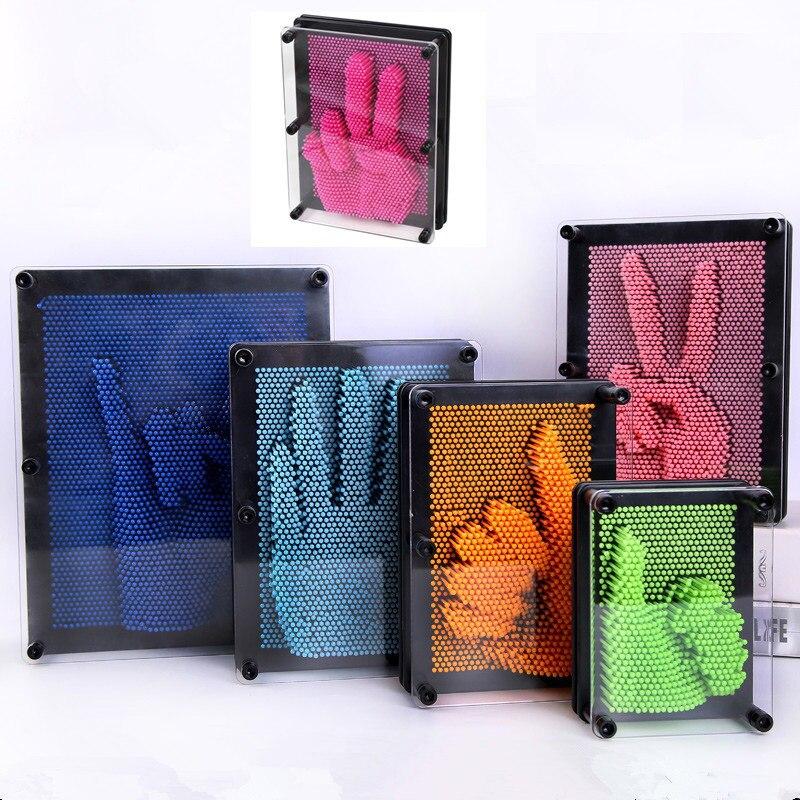 Tamanho pequeno DIY Estranho Handprint 3D Painting3D Clone Clone Modelo Mão Variedade Agulha Pinart Pin Arte Escultura Em Forma de Mão Modelo brinquedo