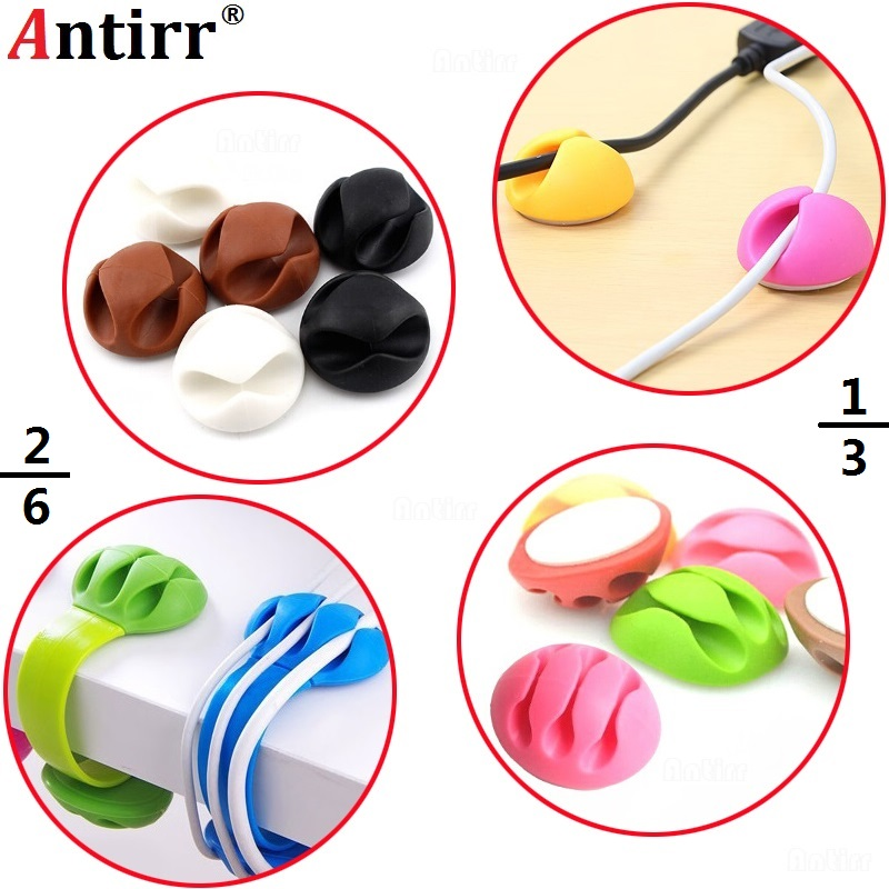 Multipurpose phone Cable Bobbin Winder Earphone Ties Organizer USB Charger Wire Cord Desk Fixer Holder PC
