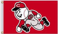 Cincinnati Reds MLB Flag 3X5FT Flag Hot Products Sale 90×150 cm Outdoor Sports Flag Brass Metal Holes Custom Flag