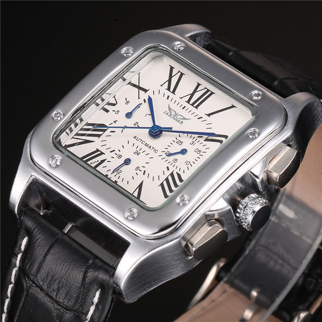 relogio mechanical male case belt dial trust s item men day calendar jaragar roman date leather numeral auto week square watch automatic watches brand