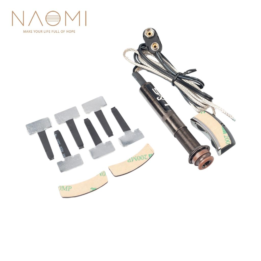 NAOMI système de préampli de Type queue-cheville guitare Folk trou de son contrôle du Volume et de l'air guitare porte-crochets