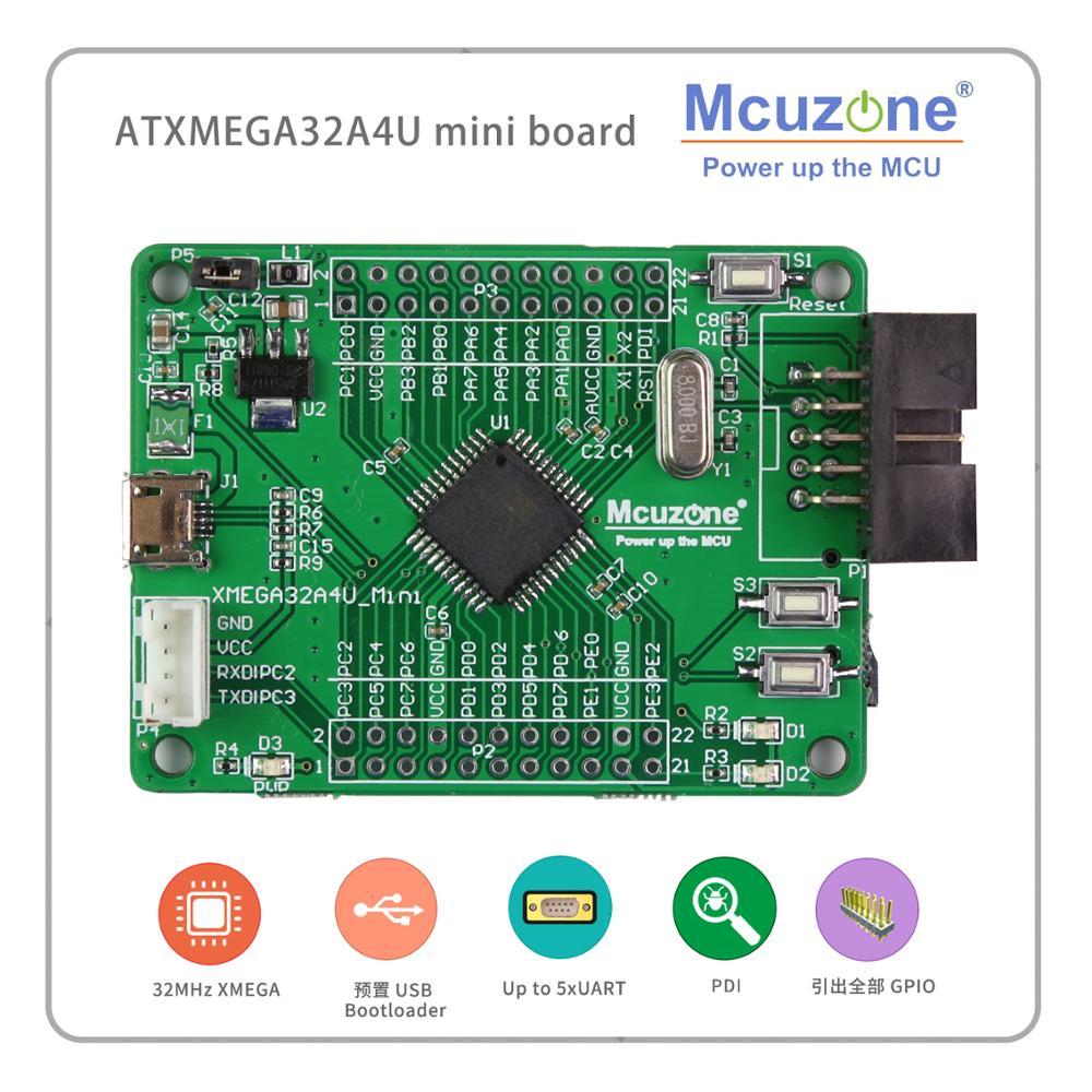 ATxmega32A4U Mini Board USB PROGRAM PDI  SD GPIO XMEGA32A4U 32A4U MCIROCHIP AVR 32A4 U