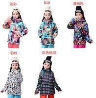 2015 childrens leopard ski jackets child snowboard jackets kids skiing jackets skiwear anorak snow coat mountain climbing jacket