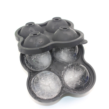 Whiskey Cocktail Ice Cube Tray 4 Large Mold Silicone Ball Maker Molds