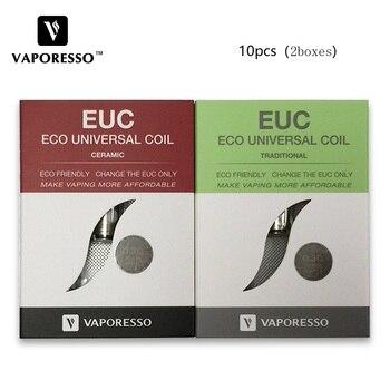10pcs Vaporesso Ceramic & Traditional EUC Coil for Estoc/Target Pro/Eleaf Melo Tank Atomizer e-cig 0.5ohm SS316 Ceramic EUC Coil enya euc 20