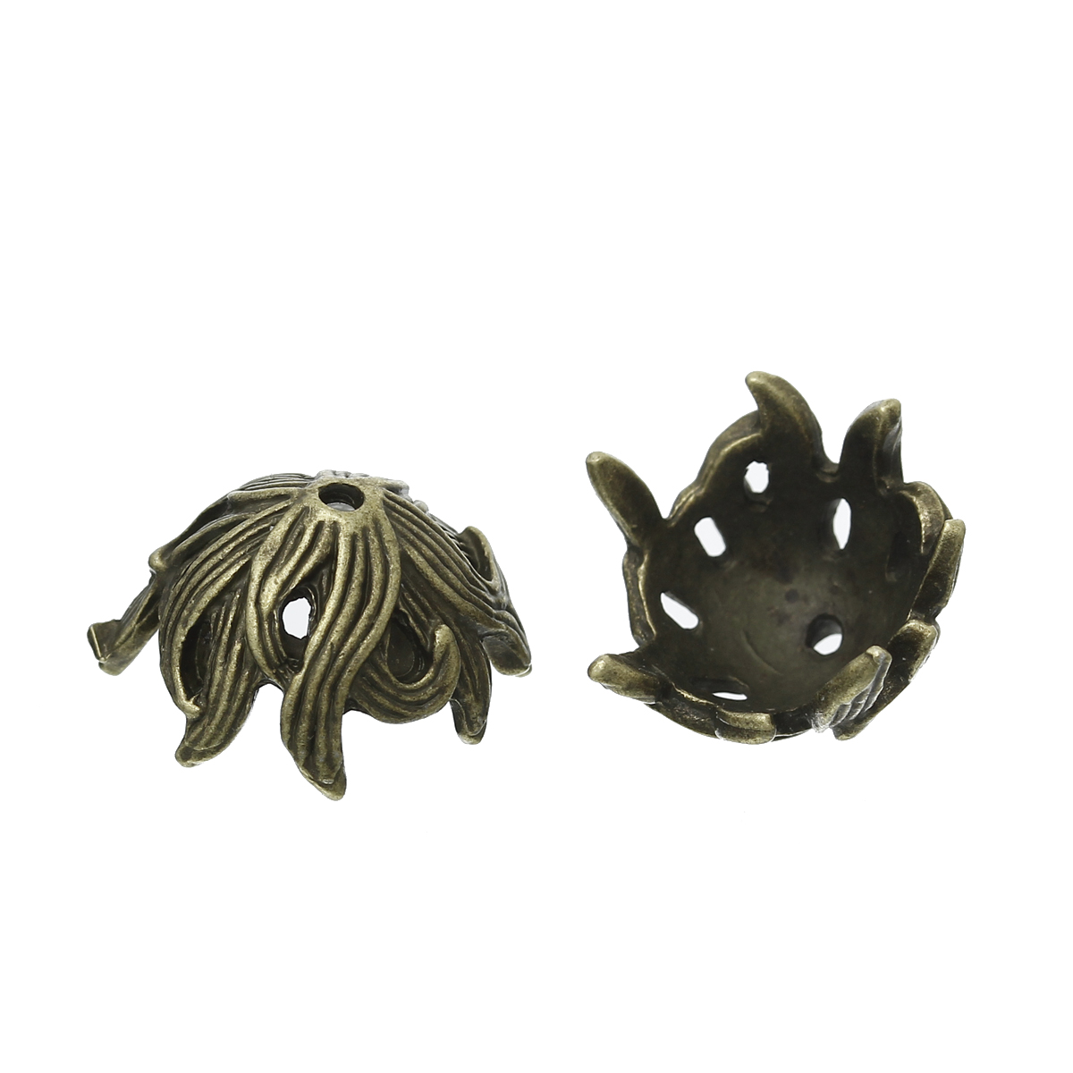 Zinc metal alloy Beads Caps Flower Antique Bronze (Fits 16mm Beads) 17mm( 5/8) x 15mm( 5/8), 5 PCs newZinc metal alloy Beads Caps Flower Antique Bronze (Fits 16mm Beads) 17mm( 5/8) x 15mm( 5/8), 5 PCs new