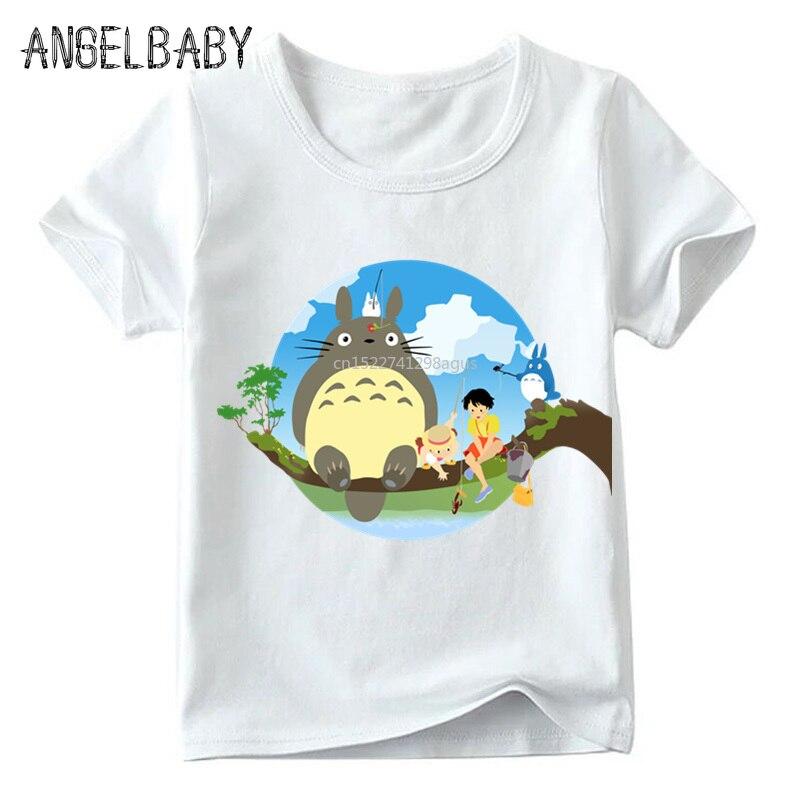 Boys/Girls Japanese Anime Spirited Away Print T Shirt Kids Summer White Tops Children Funny Totoro Cartoon T-shirt,ooo2418