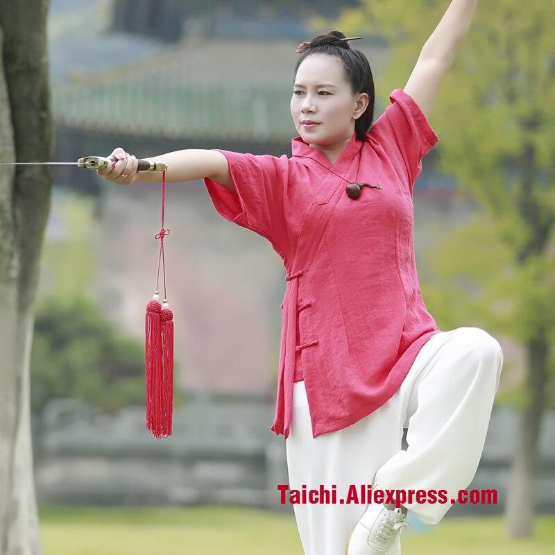 Wudang Tai Chi Clothing Summer Uniforms Linen Tai Chi Uniforms Kung Fu Performance Clothing Wushu Clothing Martial Art