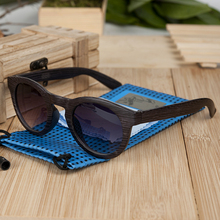 BOBO BIRD Womens Men Plastic Grain Cat Eye Sunglasses Ladies Cheap Summer Beach Sunglasses in Wood Box