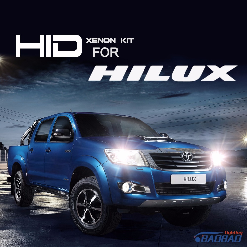 ФОТО For Toyota Hilux 55W Ultra Fast Bright HID headlight kit, full digital waterproof free shipping