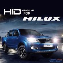 Для Toyota Hilux 55 Вт Ультра Быстрый Яркий HID лампы kit, полный цифровой водонепроницаемый бесплатная доставка