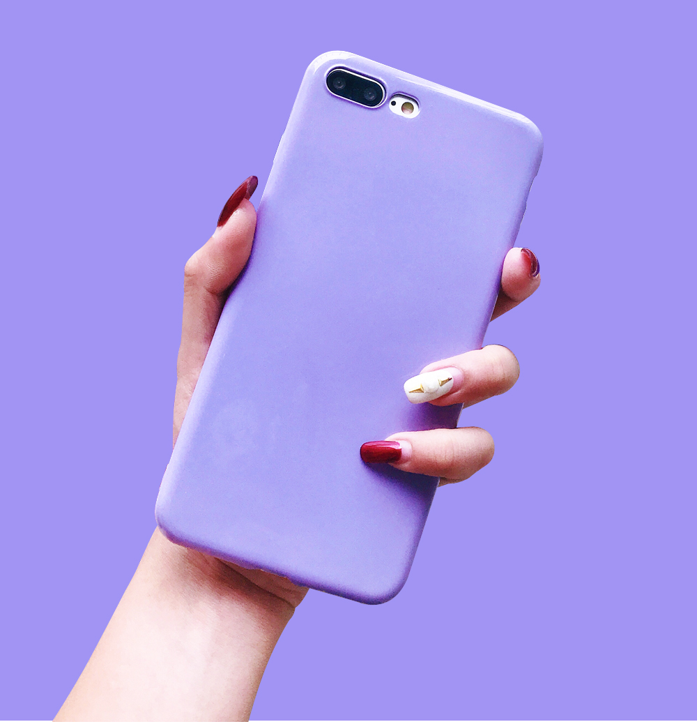 Ascromy For iPhone X Candy Color Case Luxury Soft TPU Cute Shockproof Cover Fundas For iPhone 8 Plus 7 6 6S 10 Coque Accessories (3)