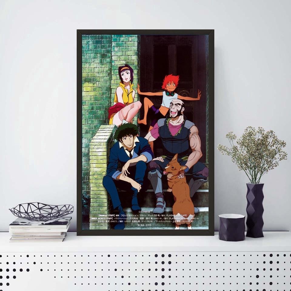 Cowboy Bebop Poster Spike Faye Edward Anime Art Silk Wand Poster ...