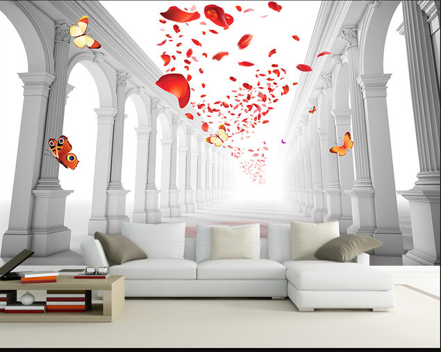 Custom 3d Wallpaper European Style Romantic Wedding Hall