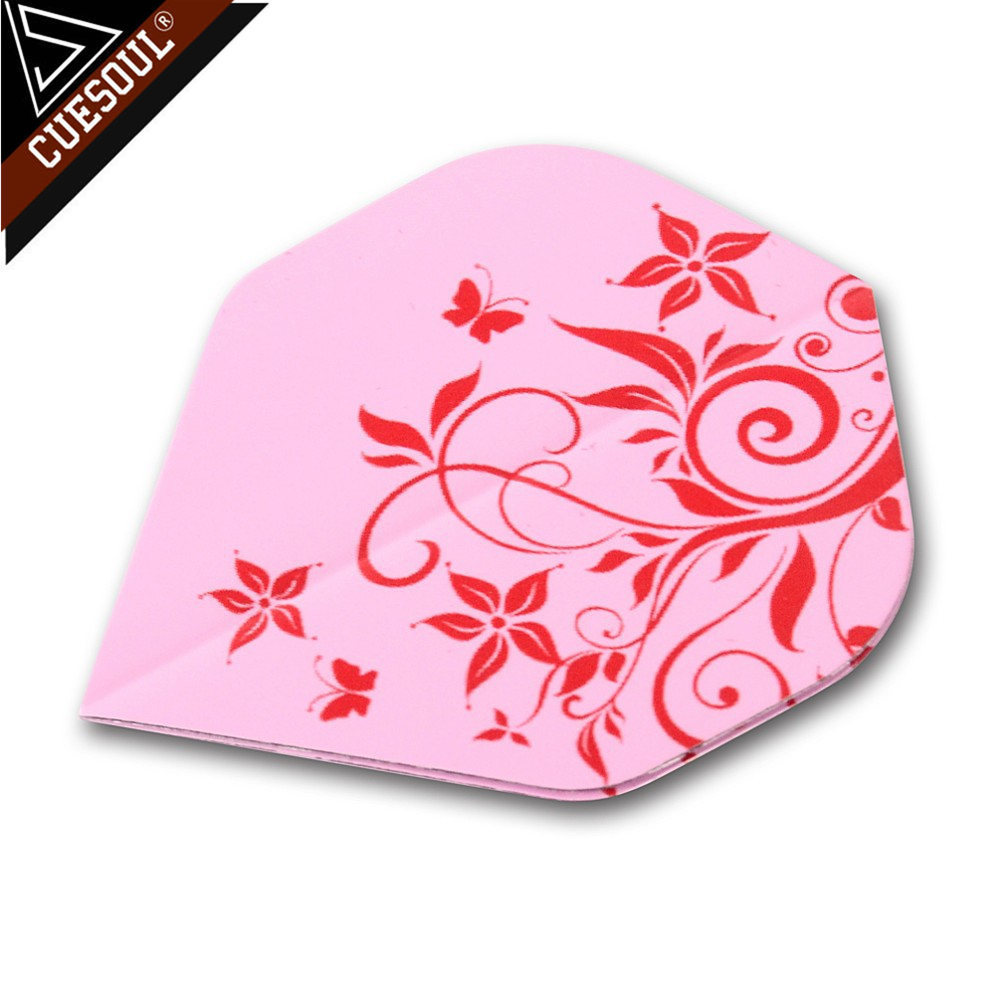 CUESOUL 9pcs Professional Dart Flights Dart Tails Wings Pink Color With Very High Quality