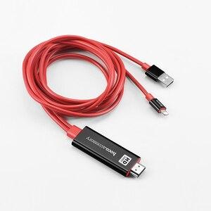 Image 5 - HOCO עבור אפל לחבר כדי HDMI כבל AV טעינת מתאם 8 פינים ל hdtv 1080 p צג מקרן עבור iPhone 7 8 iPad ממיר