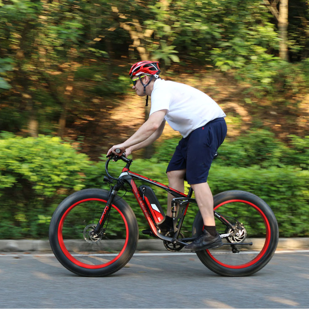 Cyrusher Xf800 Electric Bicycle Double Suspension 7 Speeds