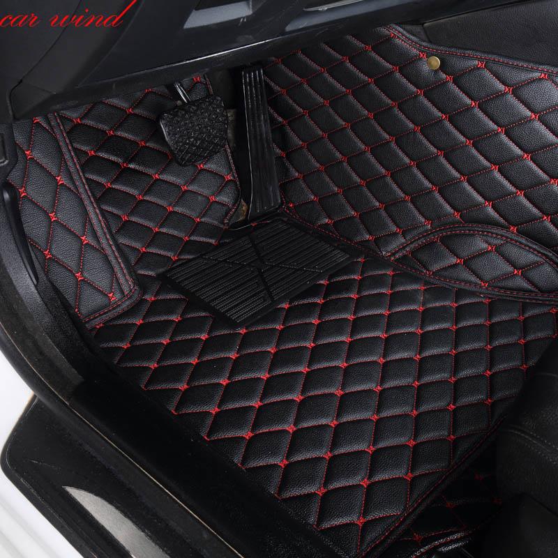 Car Wind Leather Auto car floor Foot mat For ford focus 2 3 mk2 2009 fiesta kuga 2017 explorer mondeo waterproof accessories